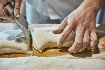 Dough cutting