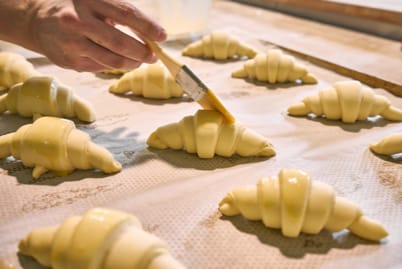 Croissant buttering